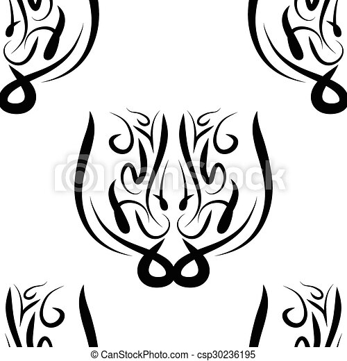 abstract black and white vector damask seamless pattern eps vectors rh canstockphoto com damask pattern vector illustrator royal damask pattern vector