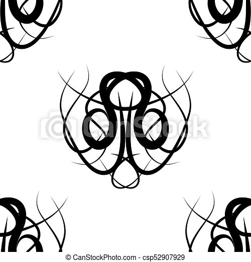 abstract black and white vector damask seamless pattern vector rh canstockphoto com simple damask pattern vector free download seamless damask pattern vector