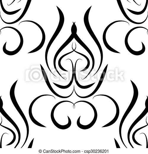 abstract black and white vector damask seamless pattern vector rh canstockphoto co uk damask vector border damask vector