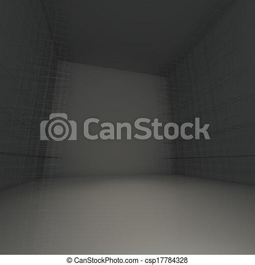 Abstract black empty room - csp17784328