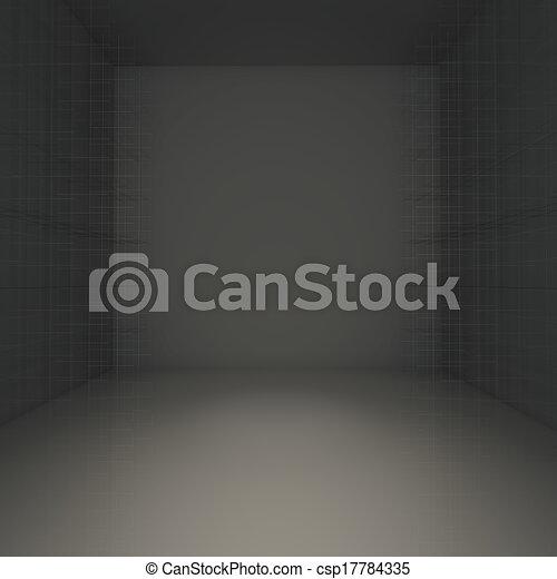 Abstract black empty room - csp17784335