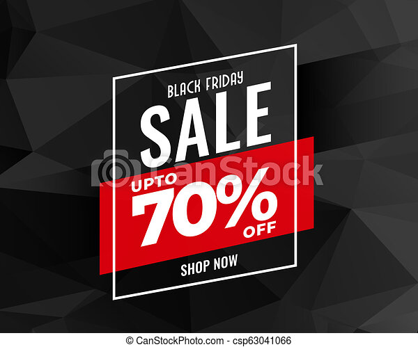 abstract black friday sale banner design - csp63041066