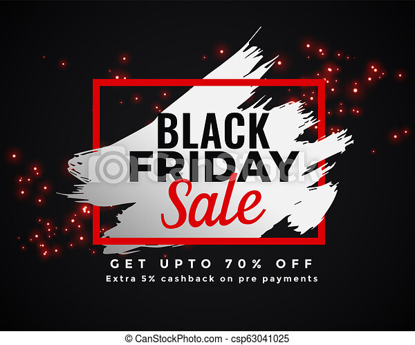 abstract black friday sale banner design - csp63041025