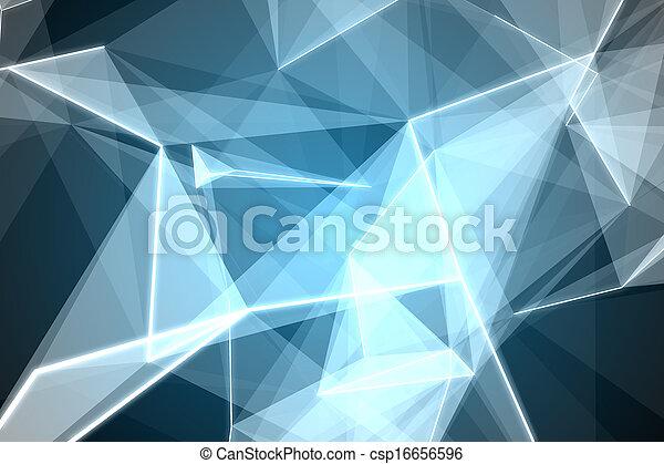 abstract, black , gloeiend, achtergrond - csp16656596
