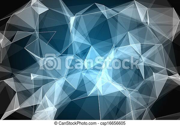 abstract, black , gloeiend, achtergrond - csp16656605