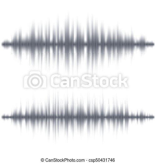 Abstract black soundwave shape - csp50431746