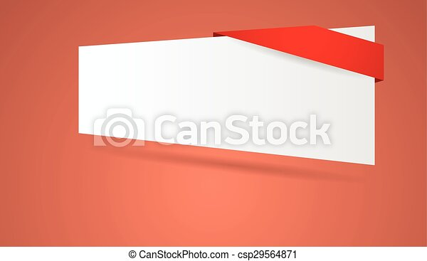 abstract blank banner - csp29564871