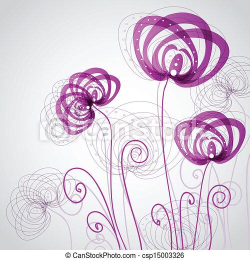 abstract, bloemen, viooltje - csp15003326