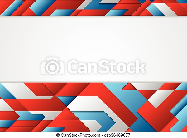 Abstract Blue And Red Tech Corporate Design