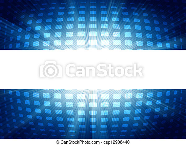 Abstract blue and white futuristic. EPS 8 - csp12908440