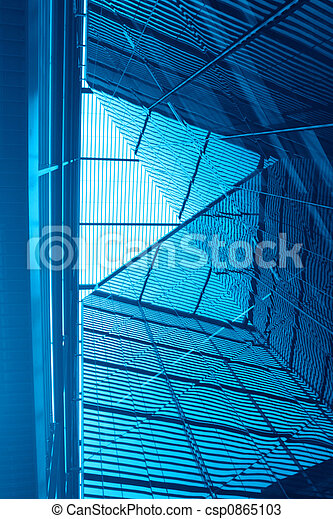Abstract blue architecture - csp0865103