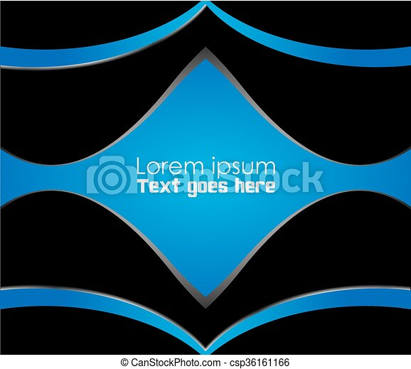 Abstract blue background - csp36161166