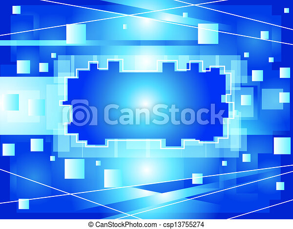 Abstract blue background - csp13755274