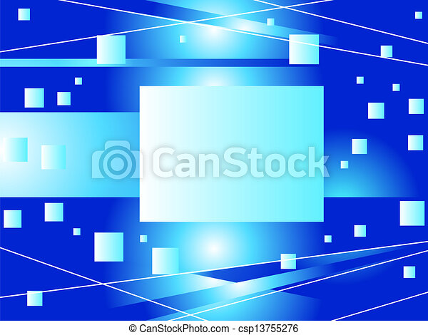 Abstract blue background - csp13755276