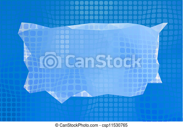 Abstract blue background, vector - csp11530765