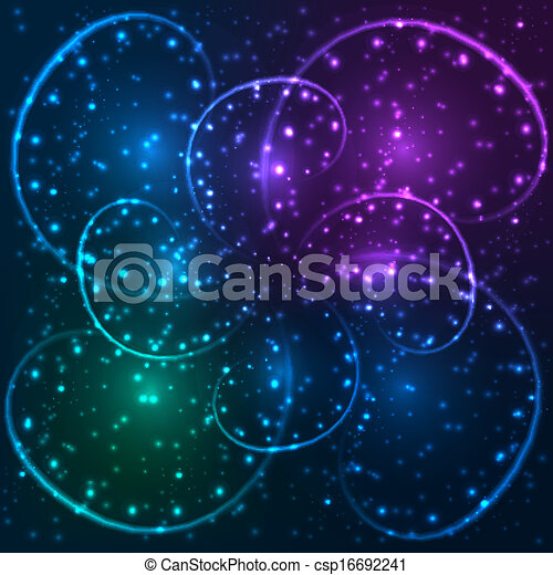 Abstract blue background. Vector. - csp16692241