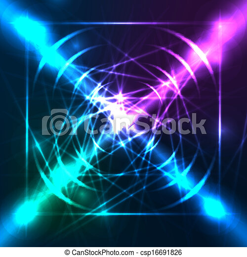Abstract blue background. Vector. - csp16691826