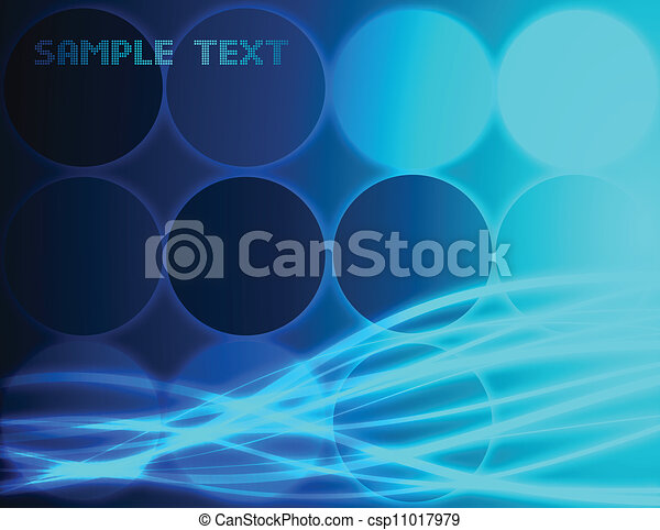 Abstract blue background. Vector - csp11017979