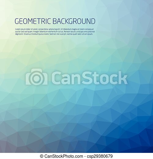 Abstract Blue Background Vector - csp29380679