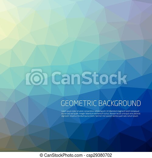 Abstract Blue Background Vector - csp29380702