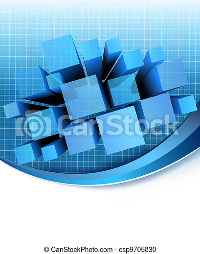 Abstract blue background.  Vector   - csp9705830