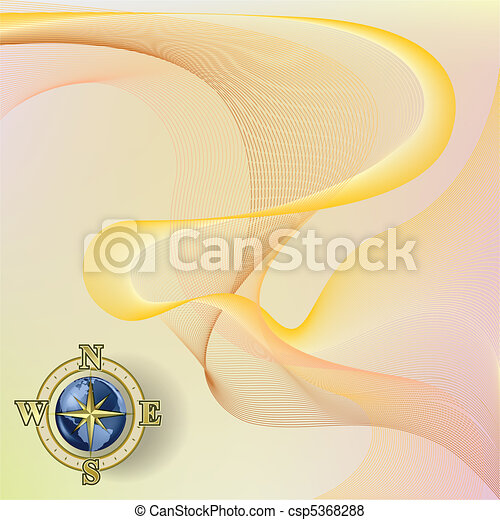 Abstract blue background with compass - csp5368288