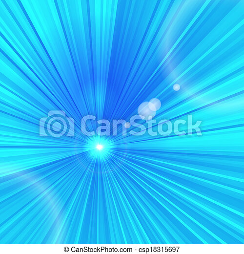 Abstract blue beams background with space for your design - csp18315697
