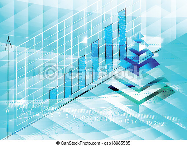 Abstract blue business background - csp18985585