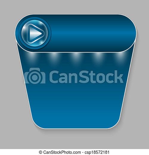 abstract blue button - csp18572181