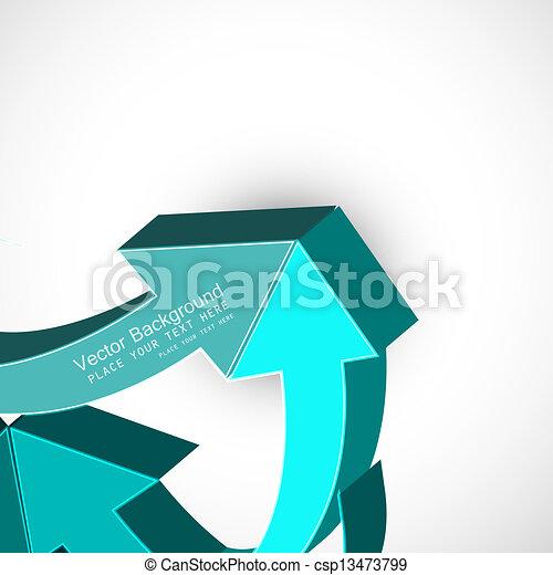 abstract blue colorful 3d arrow Vector design - csp13473799