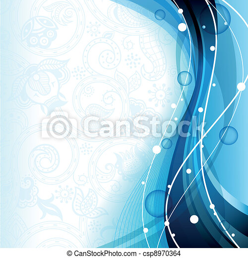 Abstract Blue Curve - csp8970364