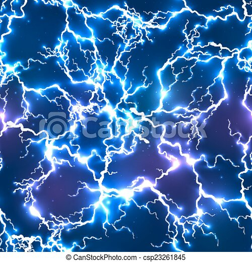 Abstract blue electric lightning seamless pattern - csp23261845