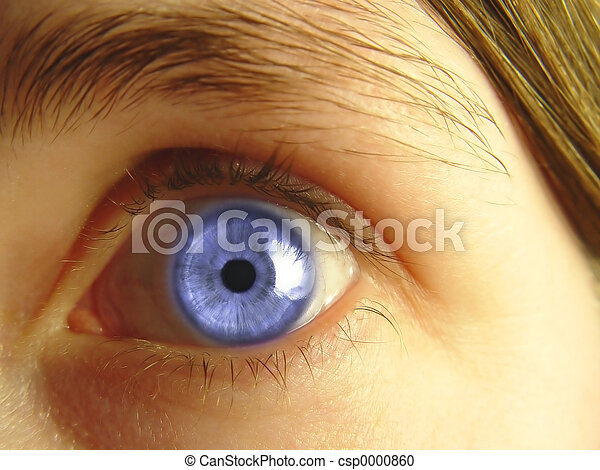 Abstract Blue eye - csp0000860