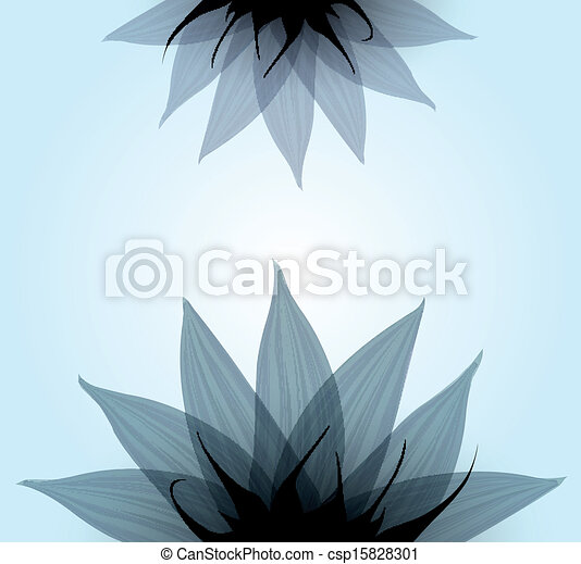 Abstract blue flower. Vector - csp15828301