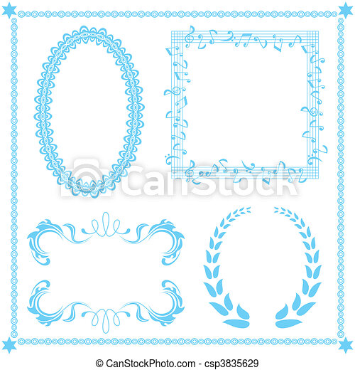 Abstract blue frame set - csp3835629