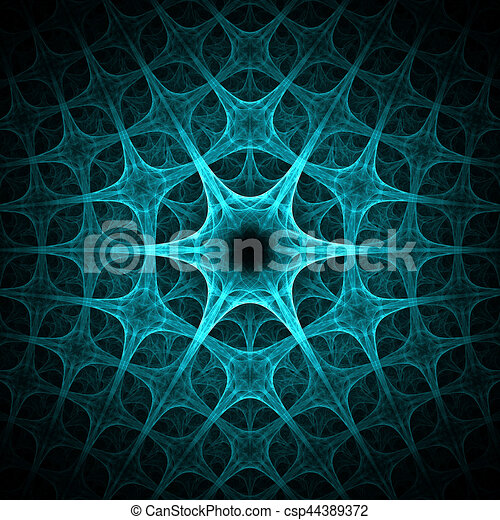 Abstract Blue Ice Flower