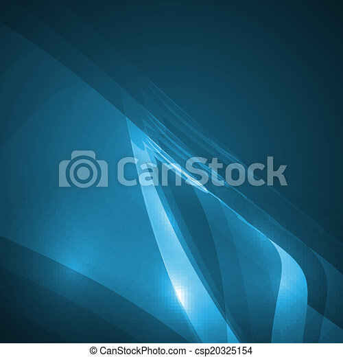 Abstract blue illustration - csp20325154