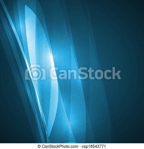 Abstract blue illustration - csp18543771