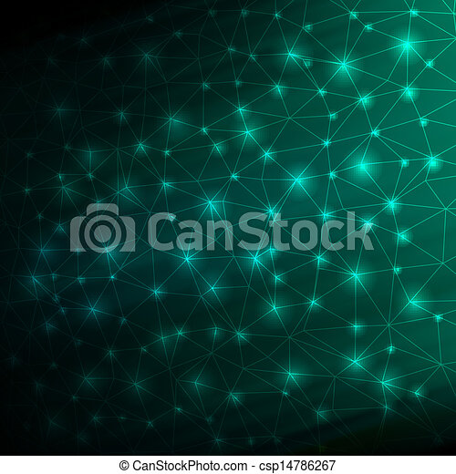 Abstract blue Lines Background. EPS 10 - csp14786267