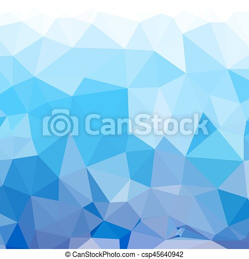 Abstract  blue low poly background - csp45640942