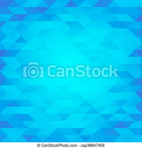 Abstract blue lowpoly designed vector background. Polygonal elements backdrop. - csp38647456