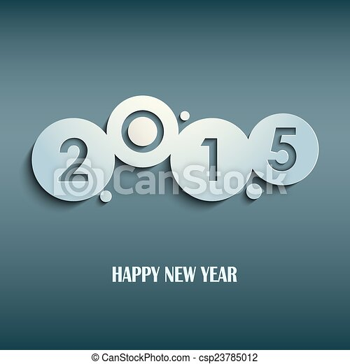 Abstract blue New Years wishes rounds template - csp23785012