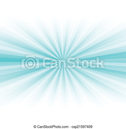Abstract blue rays burst on white - csp21597409