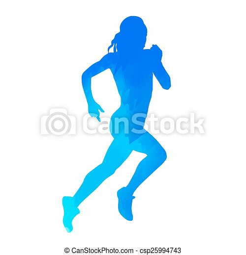 Blue Running Icon