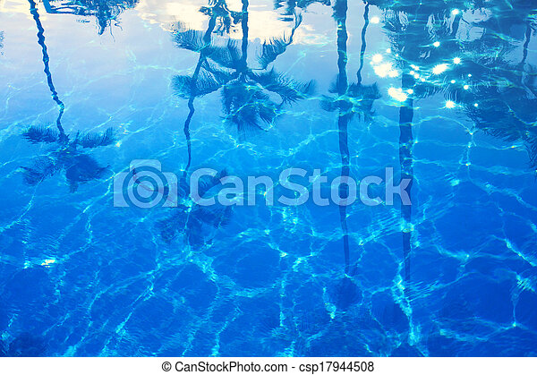 abstract Blue sea summer background - csp17944508
