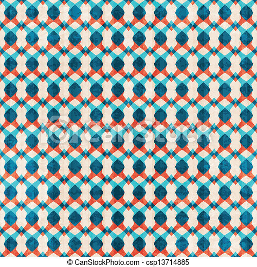 abstract blue seamless pattern - csp13714885