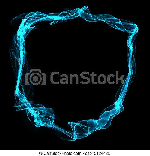 Abstract Blue Smoke Frame