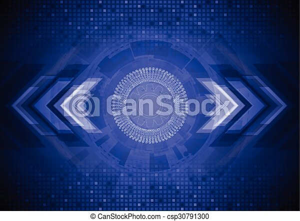 Abstract Blue Tech Background   Csp30791300