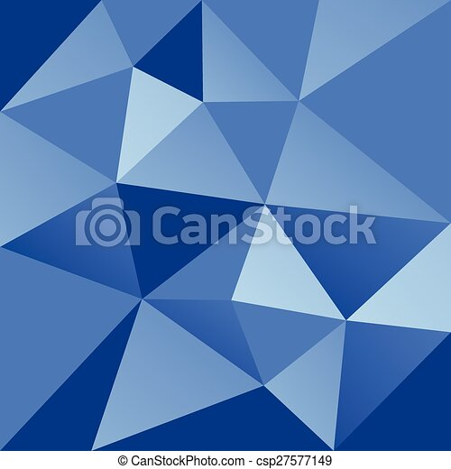 abstract blue triangle background - csp27577149