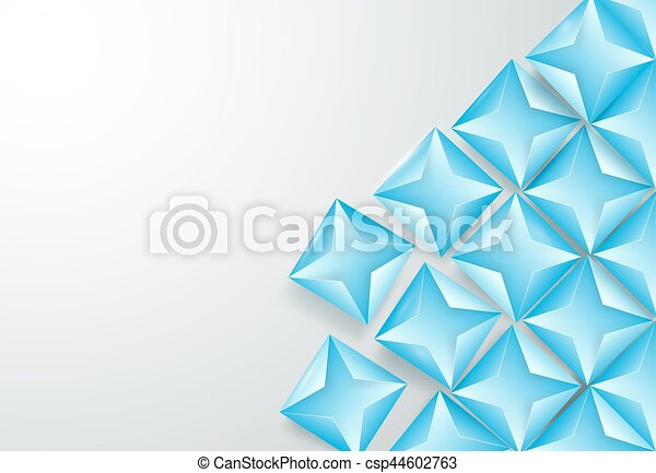 Abstract blue triangles background - csp44602763
